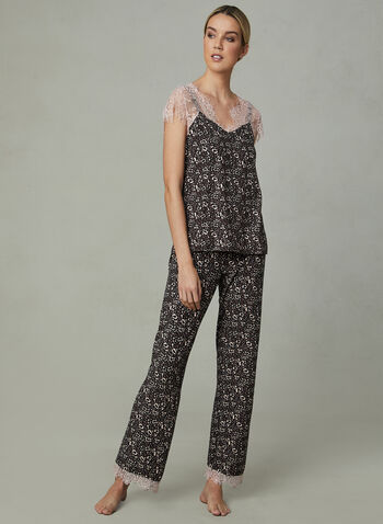 Nanette Lepore - Lace Trim Pyjama Set, Grey, hi-res