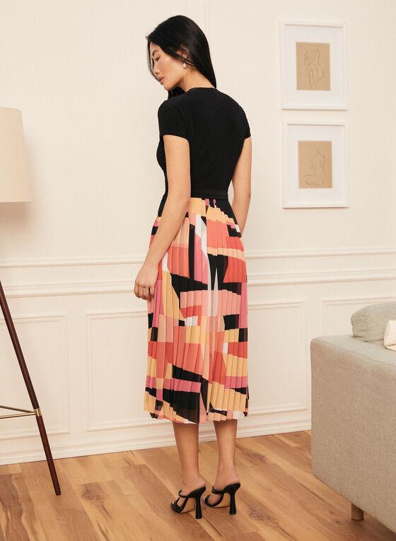 Joseph Ribkoff - Monochrome & Geometric Print Dress, Pink