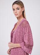 Floral Print Nightshirt Set, Pink, hi-res