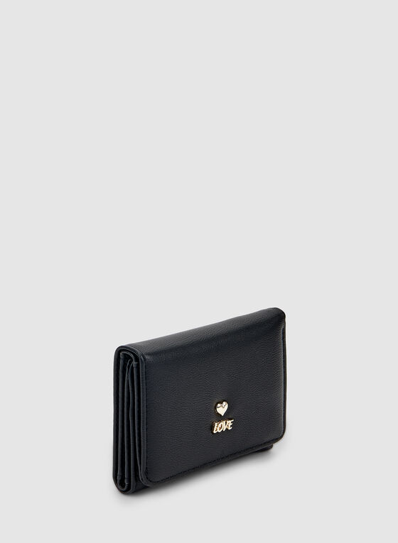 Detailed Charms Wallet, Black