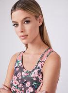 Kathy Ireland - Floral Print Pyjama Set, Grey, hi-res