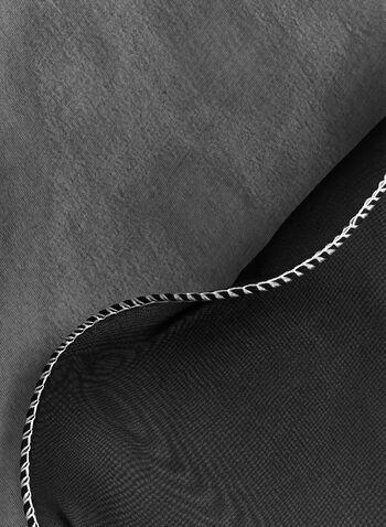Foulard en mousseline à liseré contrastant, , hi-res