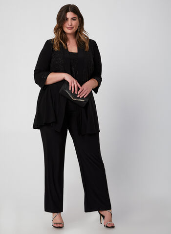 Glitter Pantsuit, Black,  Fall winter 2019, jersey fabric, glitter, pantsuit