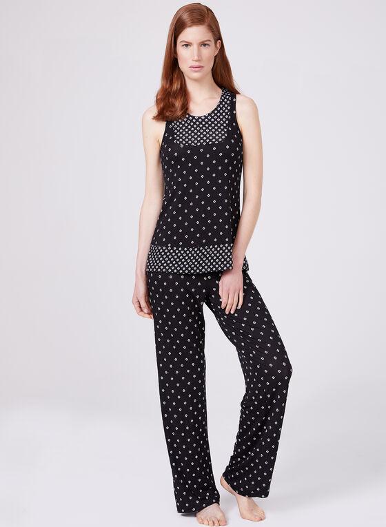 Kathy Ireland - Sleeveless Pyjama Set , Black, hi-res