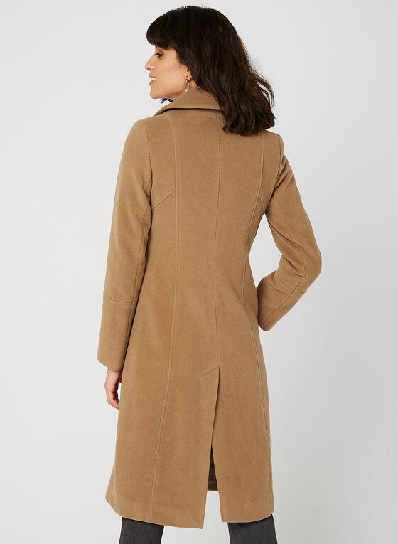 Anne Klein - Petite Lapel Collar Coat, Brown, hi-res