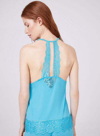 Bebe - Lace Detail Pajama Set , Blue, hi-res