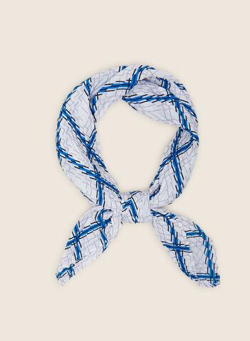 Foulard carré motif abstrait, Bleu,  foulard, carré, abstrait, printemps été 2020