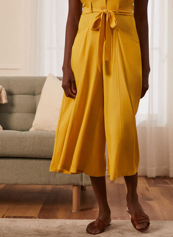 Button Detail Jumpsuit, Yellow,  jumpsuit, day, sleeveless, sweetheart, button front, sash, belt, tie, pockets, fit flare, spring summer 2021
