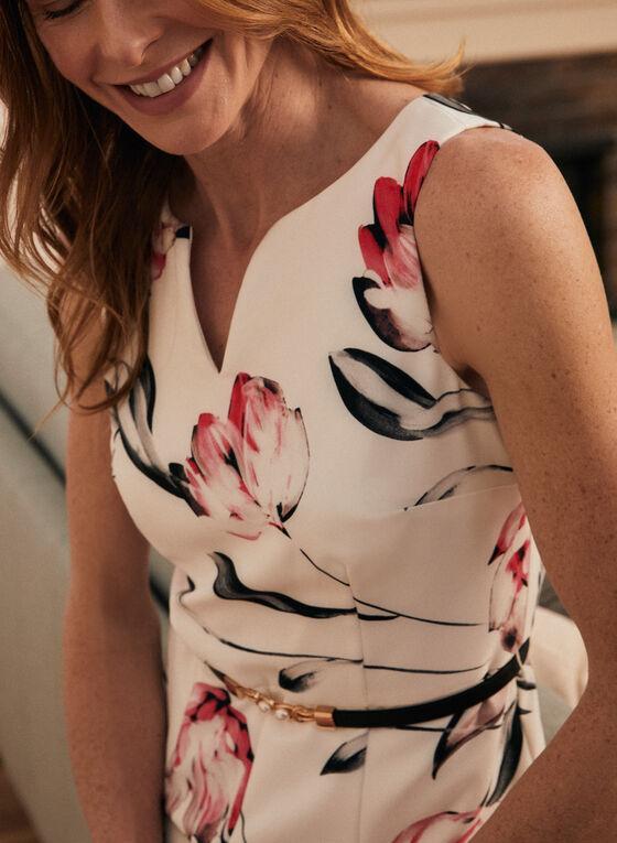 Joseph Ribkoff - Floral Print Sleeveless Day Dress, White