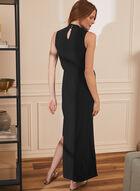 Joseph Ribkoff - Sleeveless Crossover Maxi Dress, Black