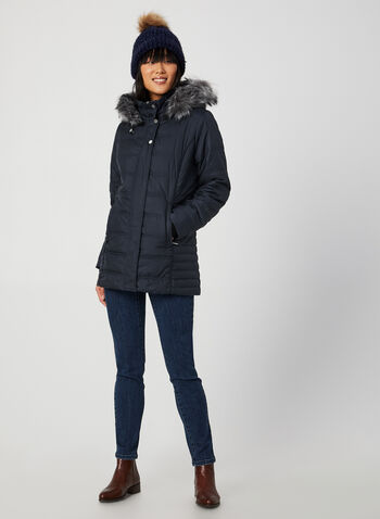 Faux Fur Matte Coat, Blue,  coat, long sleeves, fake fur, matte coat, lightweight, winter coat, fall 2019, winter 2019