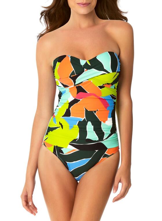 Anne Cole - Twist Front One Piece Swimsuit, Multi