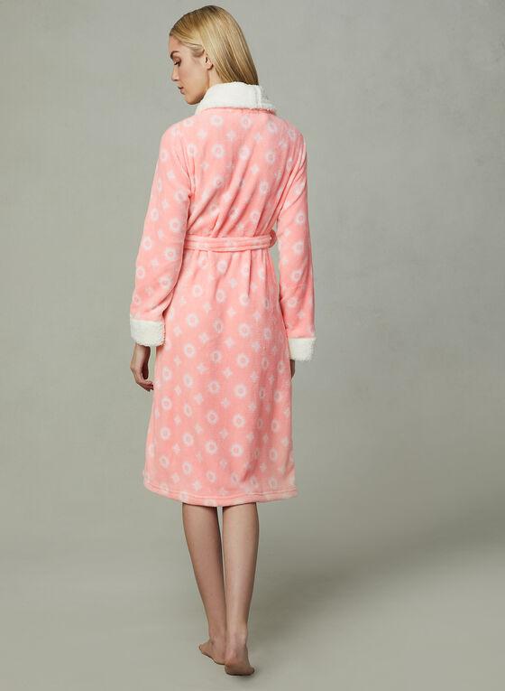 Kathy Ireland - Floral Print Robe, Grey, hi-res