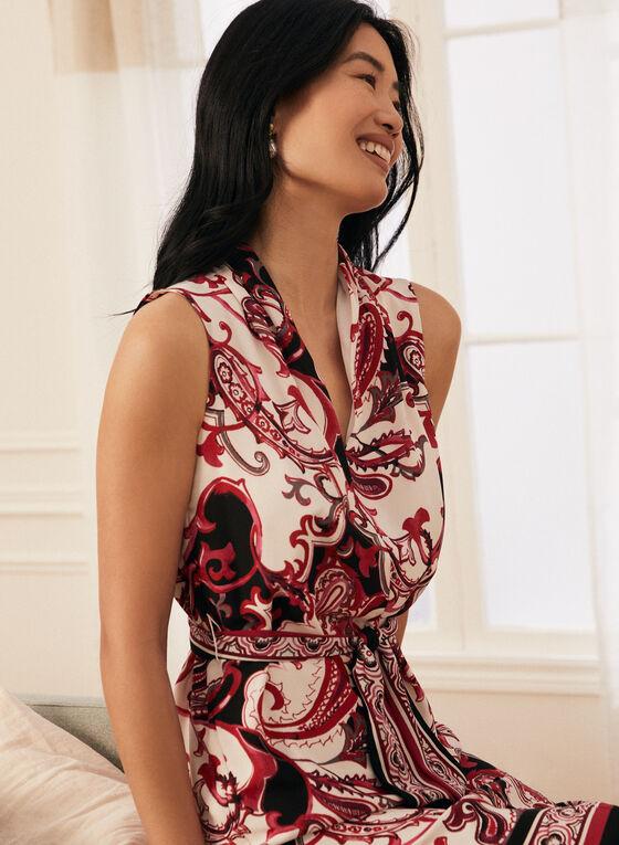 Joseph Ribkoff - Paisley Print Sleeveless Dress, White