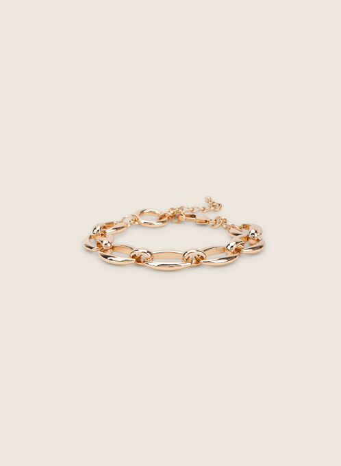 Metallic Chain-Link Bracelet, Gold