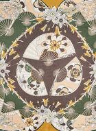 Mosaic Print Scarf, Yellow