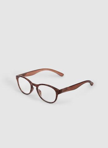 Lunettes de lecture ovales, Brun,  lunettes de lecture, ovale, rétro, automne hiver 2019