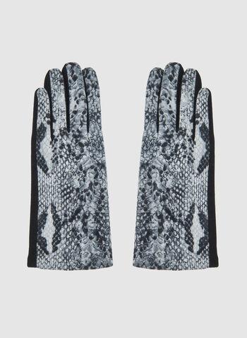 Gants motif serpent, Gris, hi-res,  gants, faux serpent, automne hiver 2019