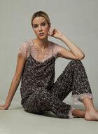 Nanette Lepore - Lace Trim Pyjama Set, Grey, hi-res