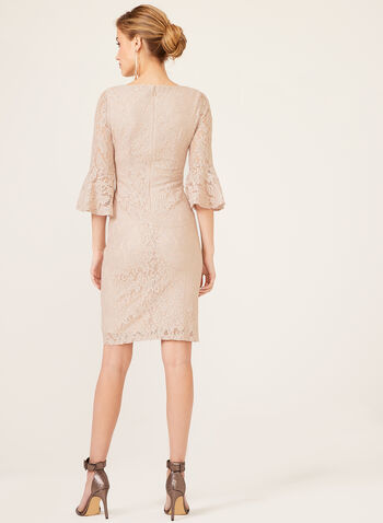 Jessica Howard - Glitter Lace Sheath Dress, Pink, hi-res