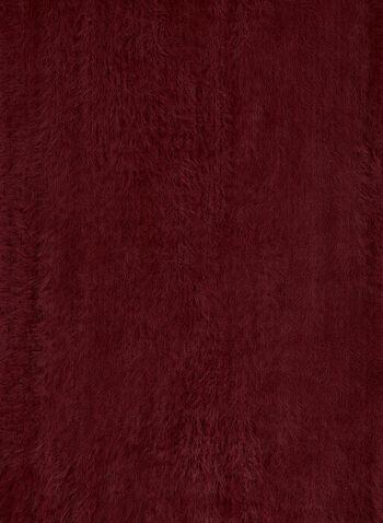 Écharpe poilue à franges, Rouge, hi-res,  écharpe, franges, effet poilu, oblong, automne hiver 2019