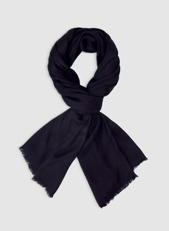 Foulard pashmina uni, Bleu, hi-res,  foulard, pashmina, uni, viscose, automne hiver 2019