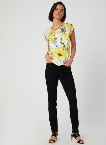 Modern Fit Straight Leg Jeans, Black,  rhinestones, crystals, stretchy, modern fit, straight leg, fall 2019, winter 2019