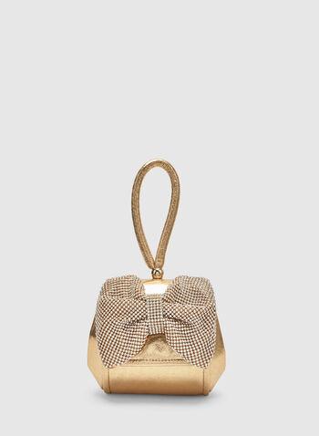 Bow Box Clutch, Gold,