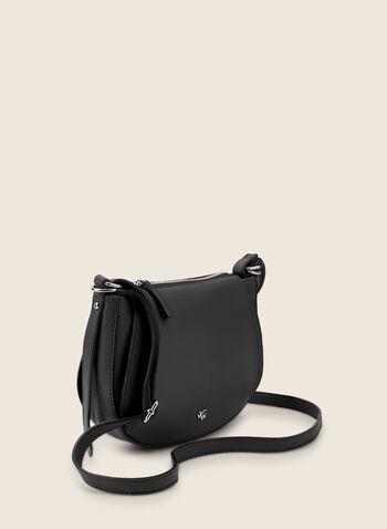 Sac arrondi en similicuir, Noir,  sac à main, rond, zip, similicuir, printemps été 2020