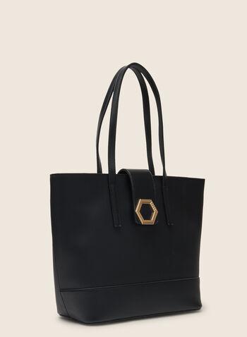 Lot de 3 sac à main en similicuir, Noir,  sac à main, fourre-tout, pochette, cartable, similicuir, hexagonal, printemps été 2020