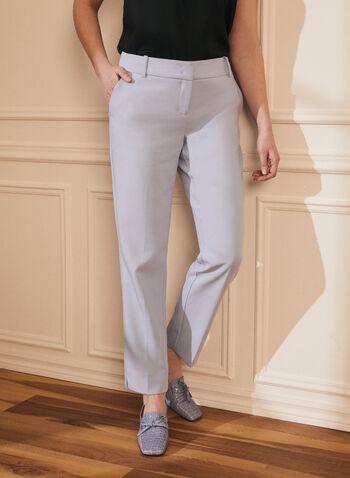 Pantalon coupe moderne pastel, Bleu,  printemps été 2020, pantalon, coupe moderne, jambe droite, taille mi-haute, pastel, poches, cheville