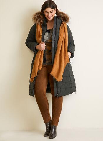Nuage - Manteau extensible en duvet recyclé, Vert,  automne hiver 2020, manteau, manteau d'hiver, matelassé, capuchon, fausse fourrure, poches, similicuir, faux cuir, Nuage, zip, glissière, végane, duvet, Technofill, recyclé