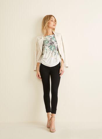 High-Waisted Slim Leg Jeans , Black,  jeans, slim leg, high waisted, turned-up hem, stud details, 5 pockets, spring 2020