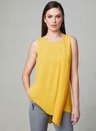 Layered Chiffon Sleeveless Blouse, Yellow, hi-res