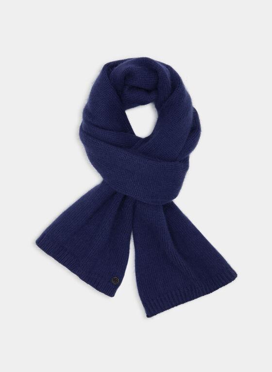 Cashmere Blend Scarf, Blue, hi-res