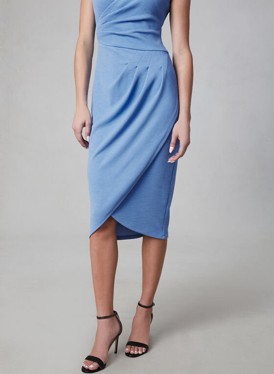 Adrianna Papell - Tulip Hem Midi Dress, Blue