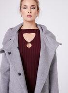 Novelti - Hooded Wool Blend Coat , Grey, hi-res