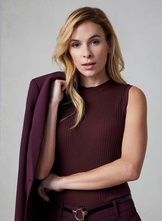 Pull sans manches en tricot, Violet