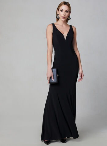 Frank Lyman - Jersey Dress, Black, hi-res