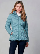 Bernardo - Quilted Packable Coat, Blue