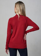 Button Detail Turtleneck Sweater, Red
