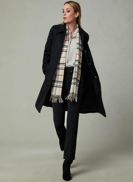 Novelti - Manteau en laine mélangée à boutons, Noir, hi-res