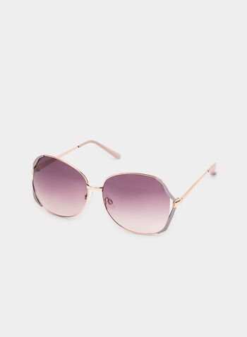Wire Frame Sunglasses, Pink,  sunglasses, metal, wire frame, spring 2019