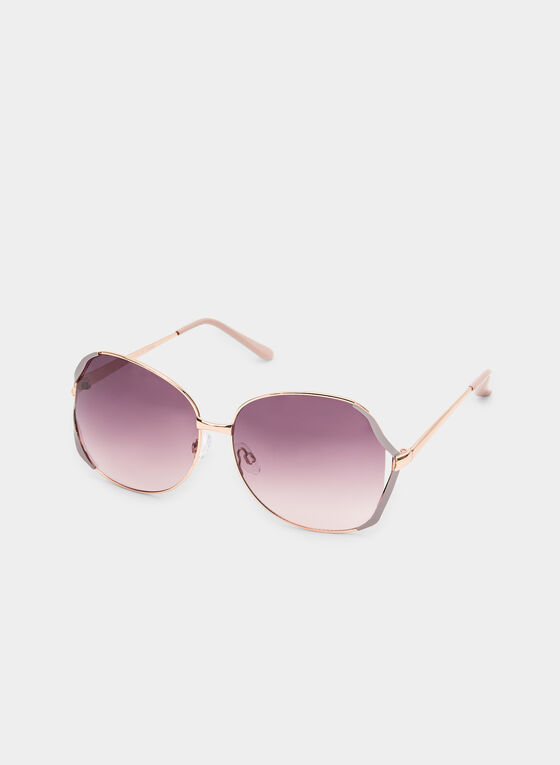 Wire Frame Sunglasses, Pink, hi-res