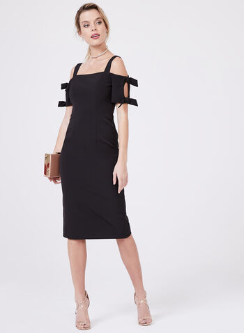 Maggy London - Cold Shoulder Sheath Dress, Black, hi-res