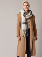 Tahari - Belted Long Coat, Brown