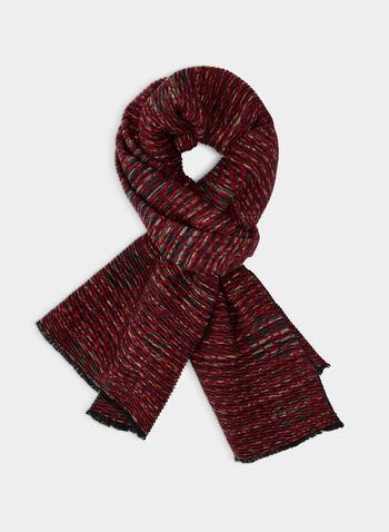 Écharpe plissée à motif floral, Brun,  écharpe, plissé, fleurs, automne hiver 2019