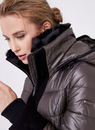 Novelti - Quilted Faux Down Coat, Silver, hi-res