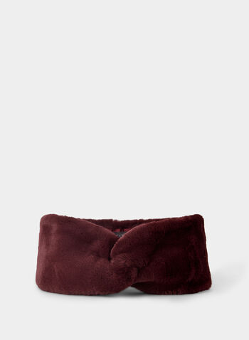 Vince Camuto - Faux Fur Headband, Red,  headband, faux fur, Vince Camuto, winter 2019
