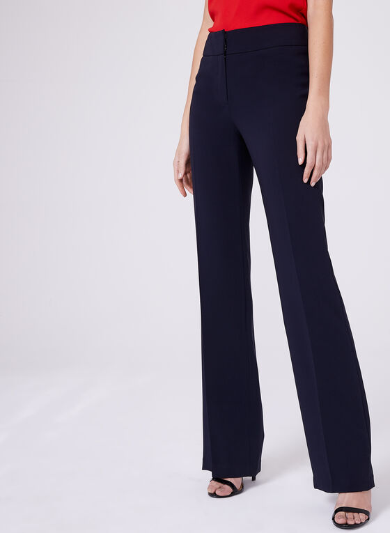 Louben - Straight Leg Pants, Blue, hi-res